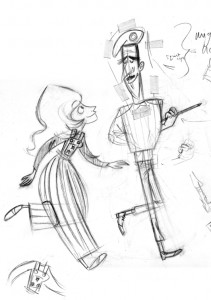 Sarah-Jane & Brigadier Rough Drawing